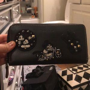 Authentic Disney x Coach Mickey Appliqué Wallet